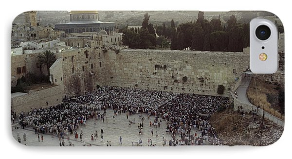A Crowd Gathers Before The Wailing Wall Phone Case by James L. Stanfield