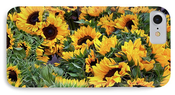 IPhone Case featuring the photograph A Crowd Of Sunflowers by Susan Cole Kelly