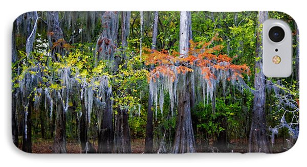 IPhone Case featuring the digital art A Cypress Fall by Lana Trussell