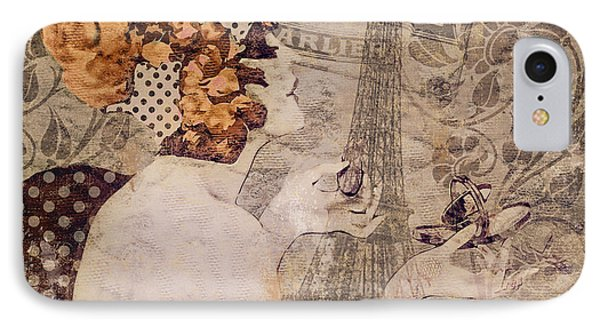 A Date With Paris II IPhone Case by Mindy Sommers