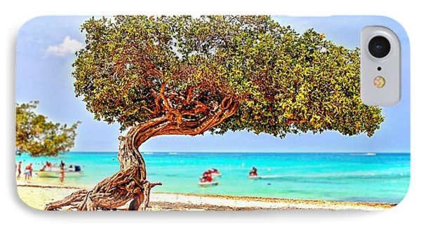 IPhone Case featuring the photograph A Day At Eagle Beach by DJ Florek