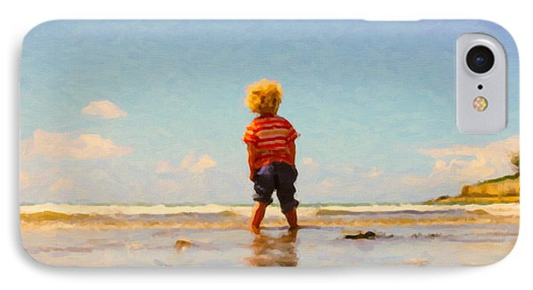 IPhone Case featuring the painting A Day At The Beach by Chris Armytage