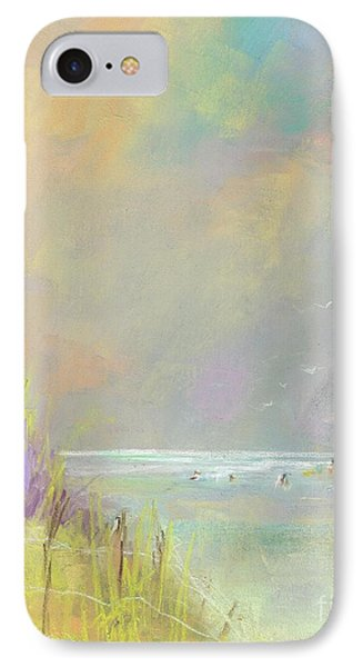 IPhone Case featuring the painting A Day At The Beach by Frances Marino