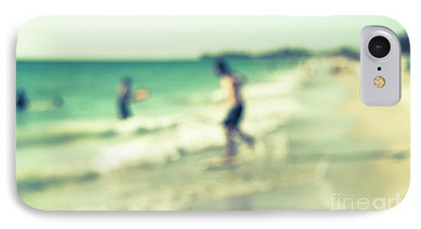 IPhone Case featuring the photograph a day at the beach III by Hannes Cmarits