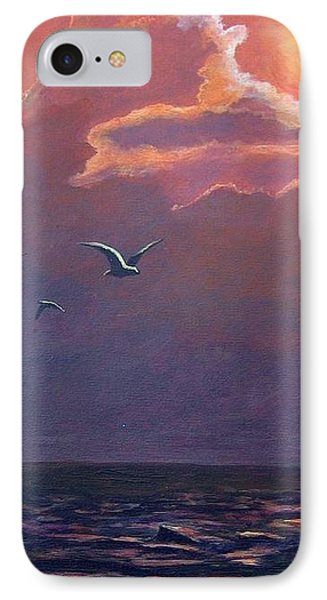 IPhone Case featuring the painting A Day In Galveston by Suzanne Theis