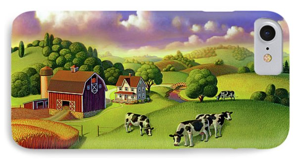 IPhone Case featuring the painting A Day On The Farm  by Robin Moline