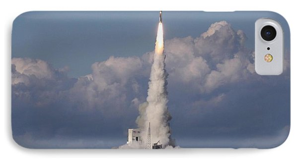 A Delta Iv Rocket Soars Into The Sky IPhone Case