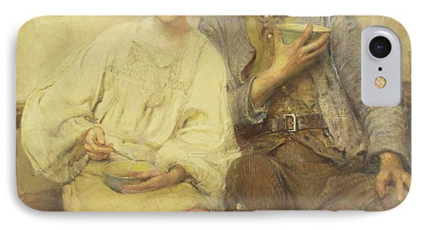 A Dinner Of Herbs  IPhone Case by George William Joy