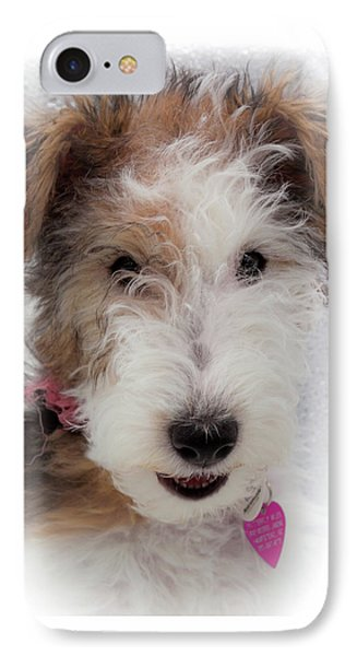 A Dog Named Butterfly IPhone Case by Karen Wiles