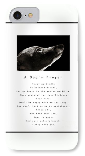 A Dog's Prayer - White IPhone Case