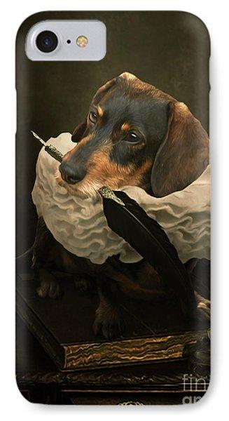 A Dogs Tale IPhone Case by Babette Van den Berg