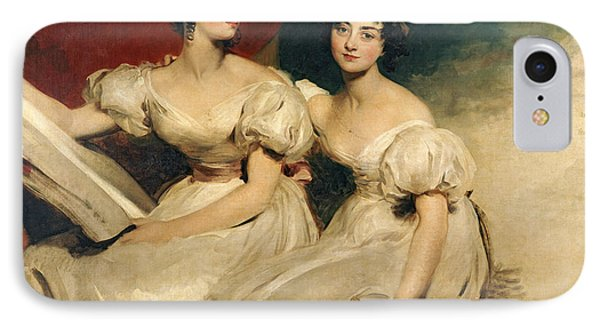 A Double Portrait Of The Fullerton Sisters Phone Case by Sir Thomas Lawrence