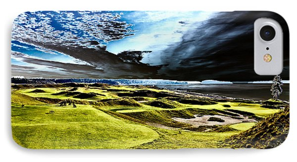 A Dramatic View On Hole 15 - Chambers Bay IPhone Case by David Patterson