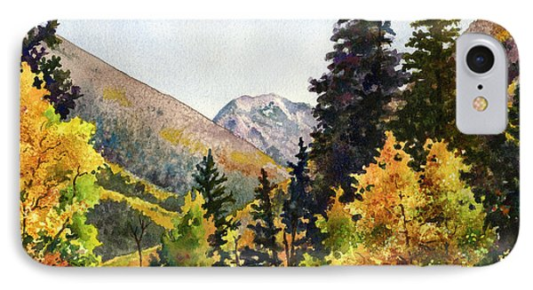 IPhone Case featuring the painting A Drive In The Mountains by Anne Gifford
