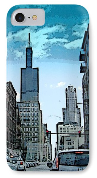A Drive Through Downtown Chicago IPhone Case by Skyler Tipton