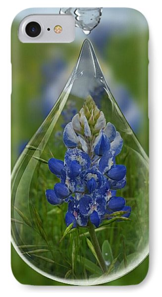 A Drop Of Texas Blue Phone Case by ARTography by Pamela Smale Williams