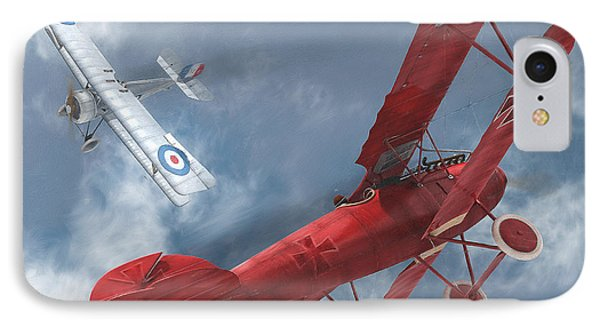 A Duel Begins - The Red Baron IPhone Case by David Collins