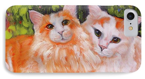 A Duet Of Kittens IPhone Case by Susan A Becker
