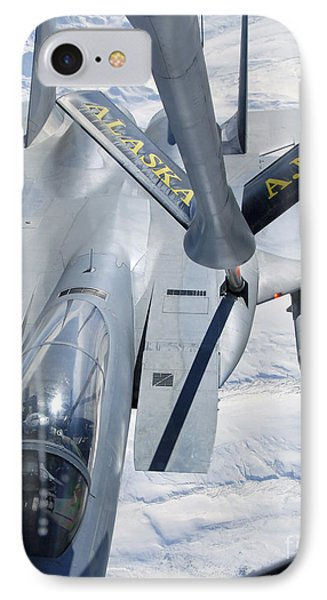 A F-15 Eagle Refuels Behind A Kc-135 Phone Case by Stocktrek Images