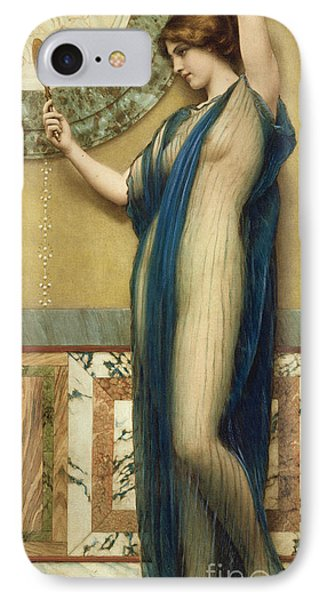 A Fair Reflection IPhone Case by John William Godward