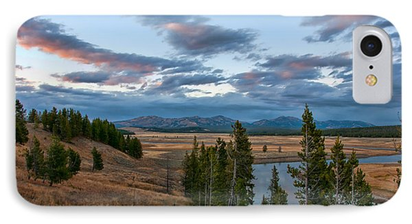 A Fall Evening In Hayden Valley IPhone Case by Steve Stuller