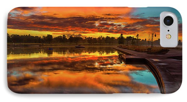A Fall Sunrise IPhone Case by John De Bord