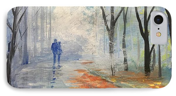 IPhone Case featuring the painting A Fall Walk by Trilby Cole