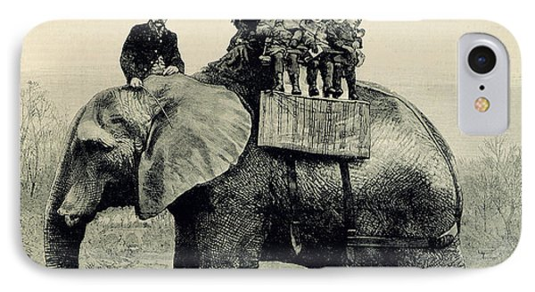 A Farewell Ride On Jumbo From The Illustrated London News Phone Case by English School