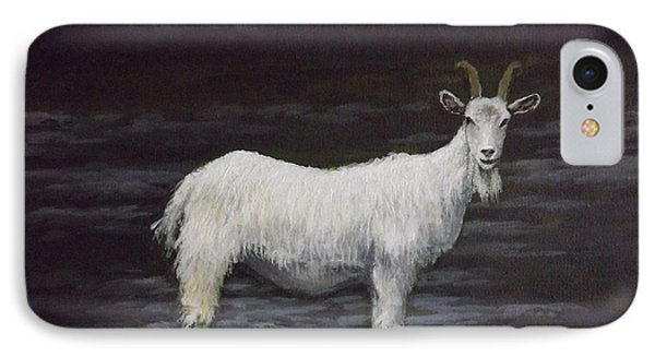 A Feral Goat On The Burren Phone Case by Sean Conlon