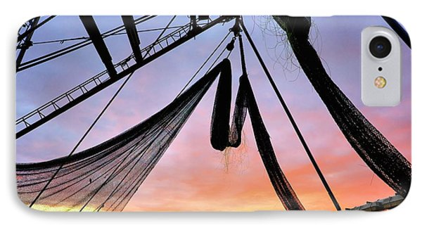 A Fisherman's Sunset IPhone Case
