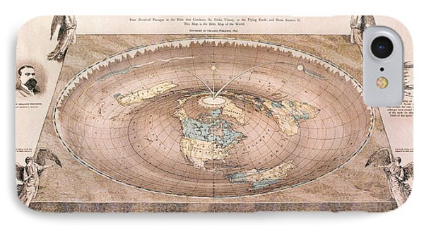 A Flat-earth Map IPhone Case by Celestial Images
