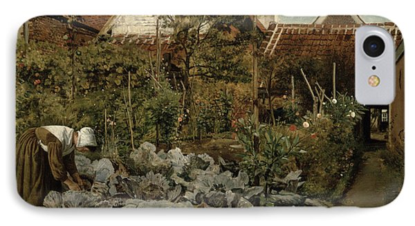 A Flemish Garden IPhone Case by Henri de Braekeleer