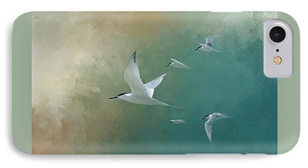 A Flight Of Terns IPhone Case by Marvin Spates
