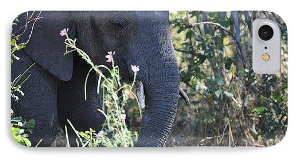 A Flower  A Elephant IPhone Case