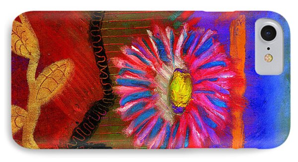 IPhone Case featuring the painting A Flower For You by Angela L Walker
