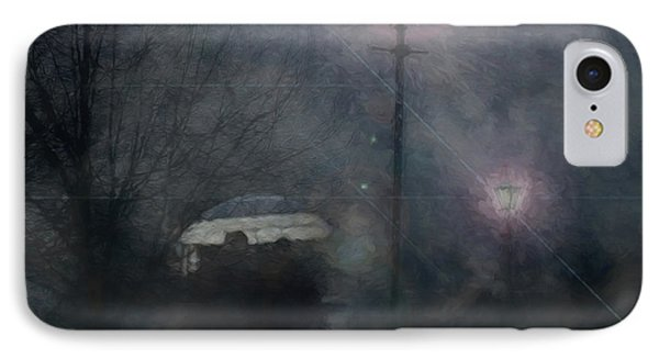 IPhone Case featuring the photograph A Foggy Night Romance by LemonArt Photography