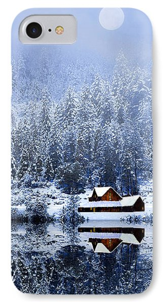A Foggy Winter Night IPhone Case by Diane Schuster