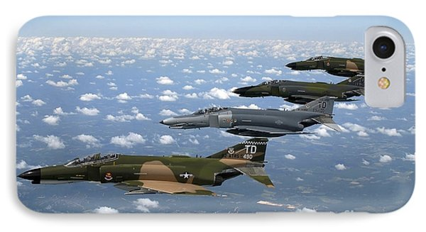 A Formation Of F-4 Phantom II Fighter Phone Case by Stocktrek Images