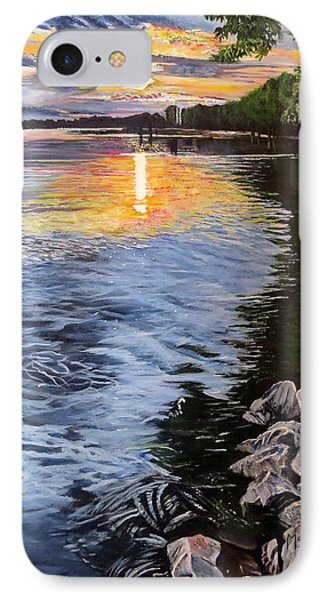 A Fraser River Sunset IPhone Case