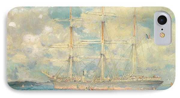 A French Barque In Falmouth Bay IPhone Case