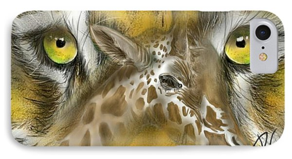 IPhone Case featuring the digital art A Friend For Lunch by Darren Cannell