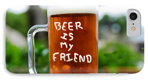 A Friendly Beer IPhone Case by David Lee Thompson