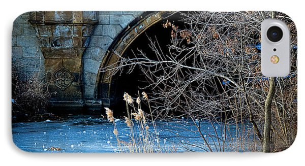 A Frozen Corner In Central Park Phone Case by Chris Lord