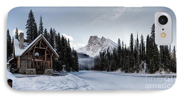 A Frozen Emerald Lake Morning IPhone Case by Brad Allen Fine Art