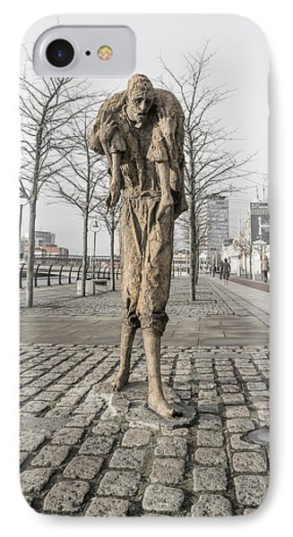 A Future History The Famine Sculpture IPhone Case by Betsy Knapp