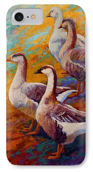 A Gaggle Of Four - Geese IPhone 7 Case by Marion Rose
