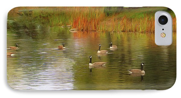 A Gaggle Of Geese IPhone Case