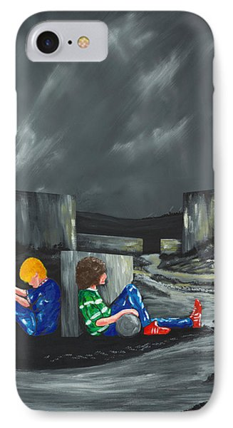 IPhone Case featuring the painting A Game Of Two Divides by Scott Wilmot