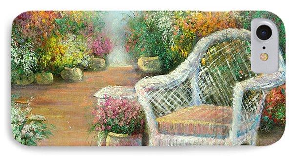 A Garden Chair Phone Case by Sally Seago