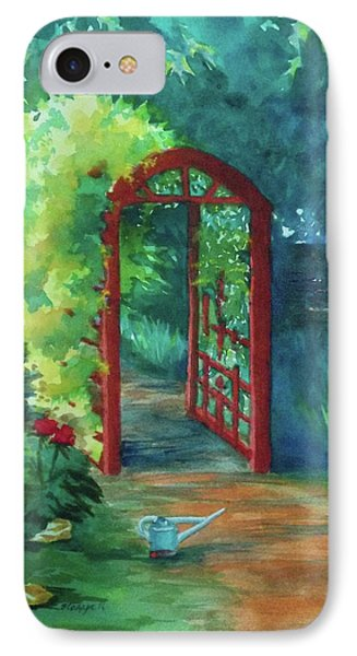 A Garden For Lee IPhone Case by Becky Chappell